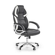 Кресло компьютерное Halmar BARTON (черный/белый) фото