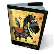 Обложка кожаная для паспорта Пегас фото