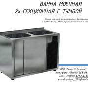 Ванна моечная двухсекционная с тумбой, мойка, посудомойка фото
