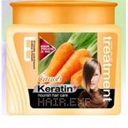 Маска для волос на основе экстракта из моркови и кератина Treatment Кератин + Морковь 700мл фото