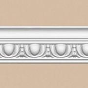 Потолочный плинтус с орнаментом DECOMASTER 95613 гибкий (55*55*2400) Декомастер фото