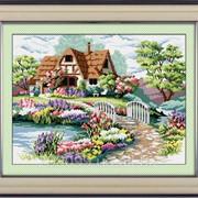 "Набор для рисования камнями на холсте ""Родной дом"" TP001 фото"