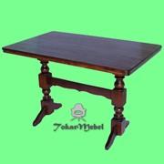 Деревянный стол для кафе на 2 ноги, 120х75 фото