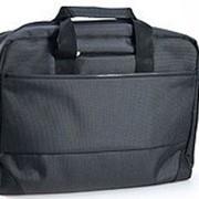 Конференц - сумка 41х32х12 черный /темно-серый фото