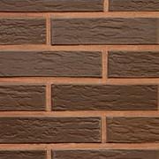 Облицовочный пустотелый кирпич Lode VECAIS BRUNIS коричневый ретро 250x85x65 фото
