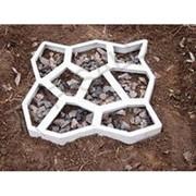 """Две формы для садовой дорожки """"Круглые камни"""" 9 камней 44 х 44 фото"""