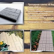 Тротуарная плитка 8 кирпичей фото