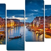 Модульная картина Венеция вечер, Неизвестен фото