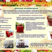 Плакат Способы консервирование овощей и фруктов Г.24 фото