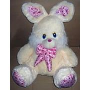 Заяц розовый бант сердечки Большой 5941 фото