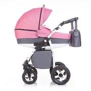 Коляска детская 2в1 ANEX Sella A S05 (серый+розовый) фото