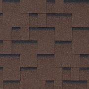 Гибкая черепица Roofshield Family Eco Модерн коричневый с оттенением фото