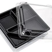 Пищевой контейнер 13х19х2, ПЭТ, 4-секционный, прямоугольный, CV-987860 фото