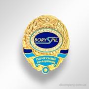 Наградной знак Почесний працівник. Boryspil фото