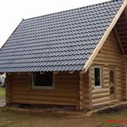 Дом с полубруса (лафет) ручной работы в стиле русский угол фото