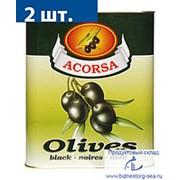 """Маслины """"АКОРСА"""" черные без косточки, 7,5 кг. фото"""