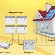 Мини-электростанция на солнечных батареях фото