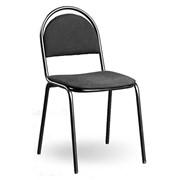 Офисный стул Стандарт+ черный матовый каркас кожзам фото