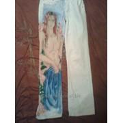 Штаны с рисунком ручной работы фото