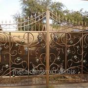 Ворота кованые Виноград №54 фото