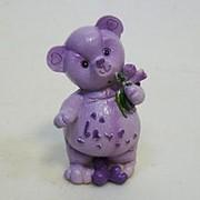 Статуэтка Мишка фиолетовый 3283 12см фото