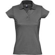 Рубашка поло женская Prescott women 170 темно-серая, размер L фото