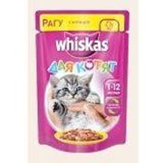 Корм для котят Whiskas курица в нежном соусе 85г фото