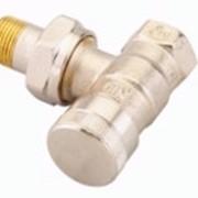 Н-образный запорный клапан RLV-KS для радиаторов с встроенным клапаном терморегулятора, Тмакс=120°С, Ру= 10 бар. , с функцией отключения, угловой, фото