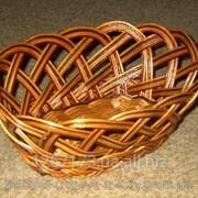 Плетеная хлебница-конфетница фото