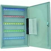 Шкаф Office-Force для 50 ключей, подвесной 550 х 380 х 80 мм, ключ, замок, серый 20085 фото