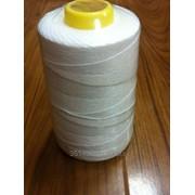 Нитки мешкозашивочные ЛШ-210(12S/4) бобина 1000 м (белые), диаметр 0,8 мм фото