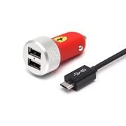 FERUCC2UMIRE Ferrari CG-Mobile зарядное устройство автомобильное, Питание: Прикуриватель, Красный фото