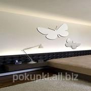 Декоративное акриловое зеркало 2 бабочки фото