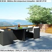 Мебель из искусственного ротанга, комплект КУБО - 4 кресла + стол - мебель для сада, дома, гостиницы, ресторана, кафе фото