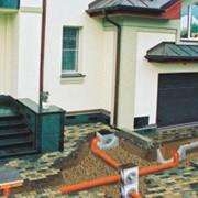 Монтаж систем поверхностного водоотвода, труб, благоустройство територий. фото