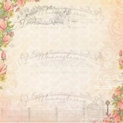 Бумага дизайнерская для скрапбукинга архивного качества 30*30см фото