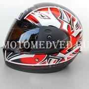 Шлем Safebet, красный закрытый, тонированное стекло, размер S 55-56, Китай фото