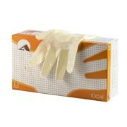 Перчатки смотровые латексные неопудренные, полимерно-хлорированные, текстурированные, натуральный фото