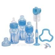 Набор из 3х бутылочек с шир. горл-ом, пустышка, прорезыватель Flexees, ёршики 1 для бут-к и 2 для вент системы фото