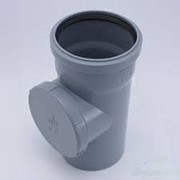 Ревизия канализационная 110 РР серая фото