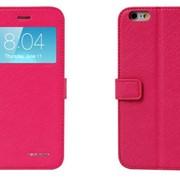 Чехол-книжка iphone 6+ Plus розовая фото