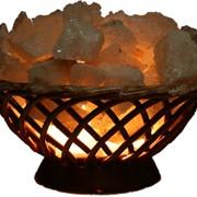 Соляная лампа Корзинка большая 3кг фото