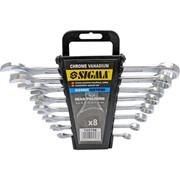 Ключи рожково-накидные 8шт 6-19мм CrV head polished sigma 6010191 фото