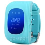 Умные детские часы Smart Baby Watch GPS Tracker Q50 (3 в 1: маяк - часы - телефон) blue (голубые) фото
