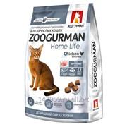 Полнорационный сухой корм для взрослых кошек Zoogurman Home Life, Курочка/Chicken, 1.5кг (Зоогурман) фото