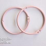 Кольца для альбомов, розовые 50 мм фото