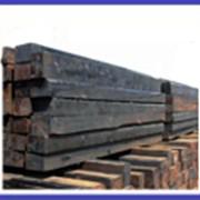 Материалы верхнего строения пути:брус пропитанный, шпала деревянная, железобетонная,рельс, противоугон,гровер,подкладка,болт стыковой и др. фото