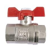 ЗКр102-25 Кран шаровый AW-standart д/води, 25(1) м/м, мотыль, 30bar, никель/латунь 10*40 фото
