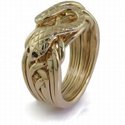 "Золотое кольцо с рубином ""Золотая Кобра"" от Wickerring фото"