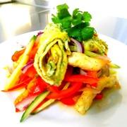 Салат куриный с омлетом (минимальная порция 200г) фото